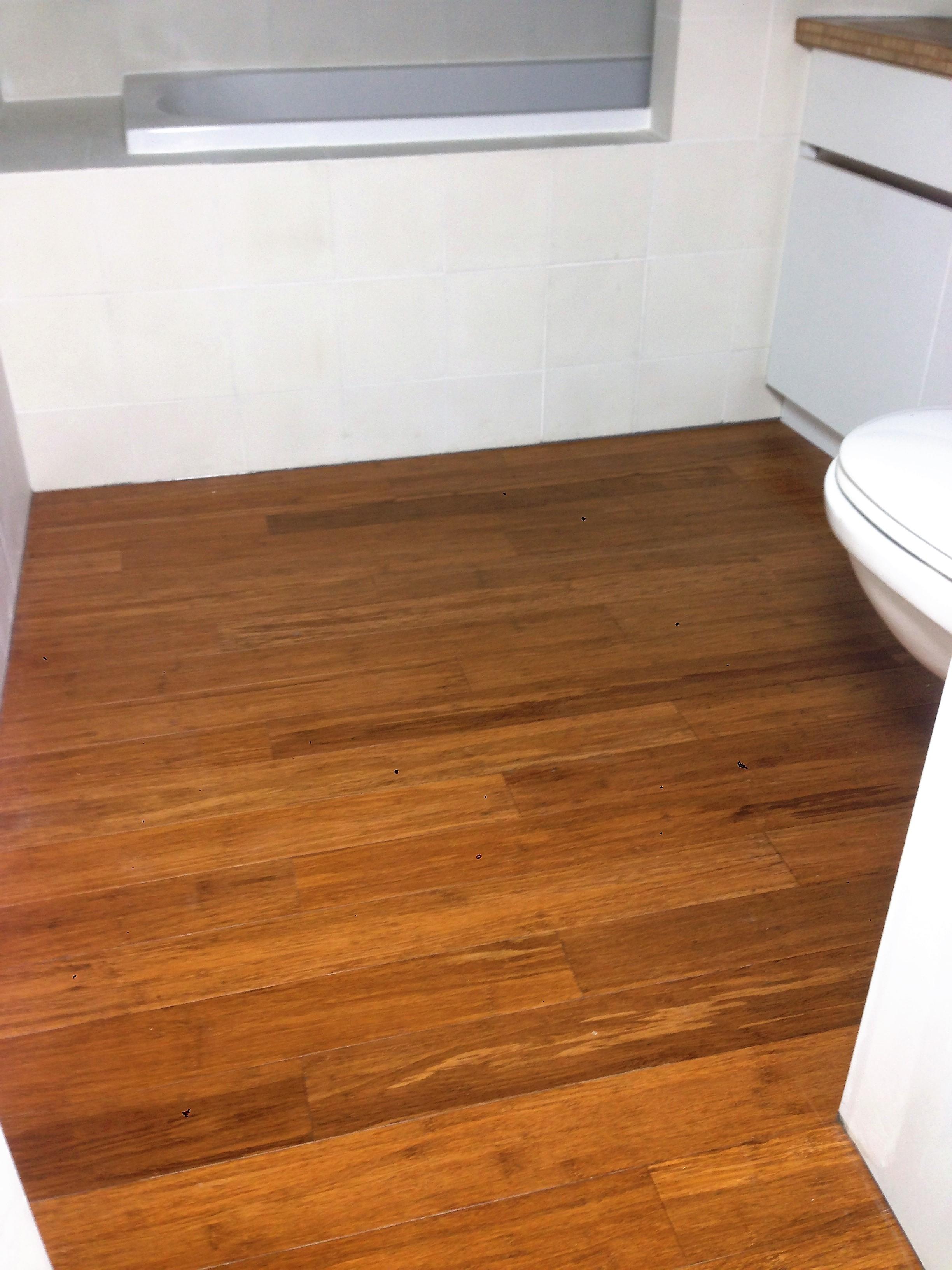 Parquet Bambou dans salle de bain » Equarri